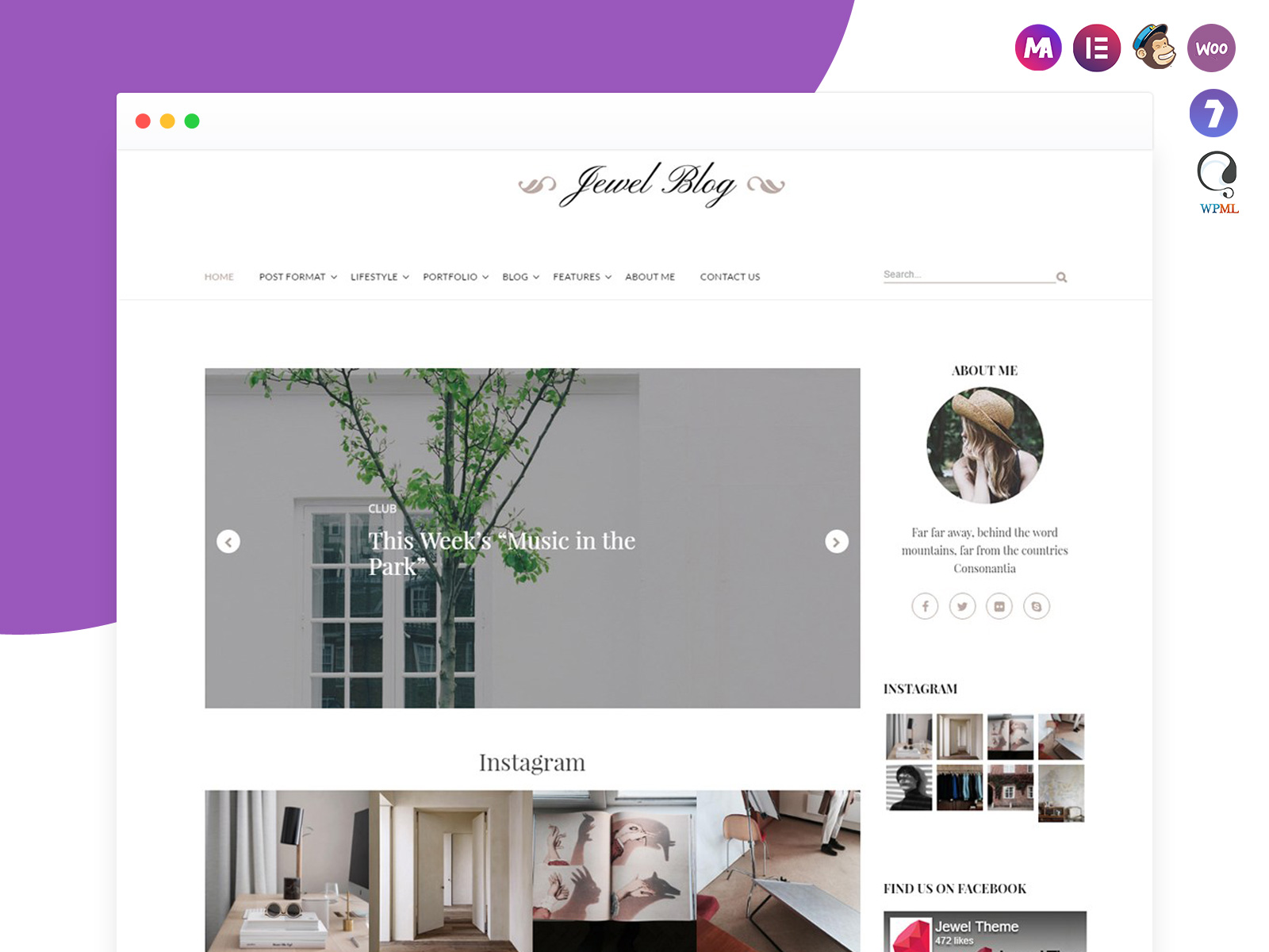 Jewel Blog WordPress Theme